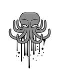 graffiti tinte tropfen farbe spray böser oktopus krake kopffüßer kalmar tentakel tintenfisch unterwasser monster comic cartoon clipart lustig design meer wasser tauchen fisch - 243403967