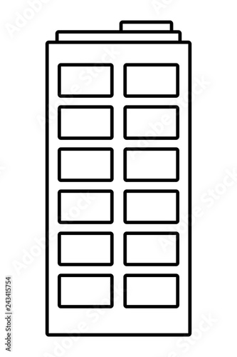 building isolated icon