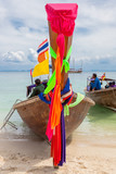 barques thaïlandaises, Long Tail Boats, à Tup Islands  - 243421383