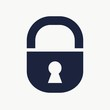 Cyber security concept. Lock symbol. Design for infographics or presentation.