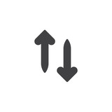 Up and down arrows vector icon. filled flat sign for mobile concept and web design. Transfer arrows simple solid icon. Symbol, logo illustration. Pixel perfect vector graphics - 243428369