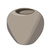 vector isolated clay pot - 243432553