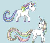 isolated unicorn, character