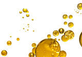 golden yellow bubble oil, abstract background - 243433712