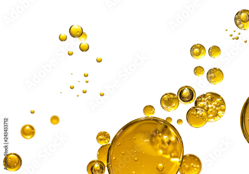 golden yellow bubble oil, abstract background © Warakorn