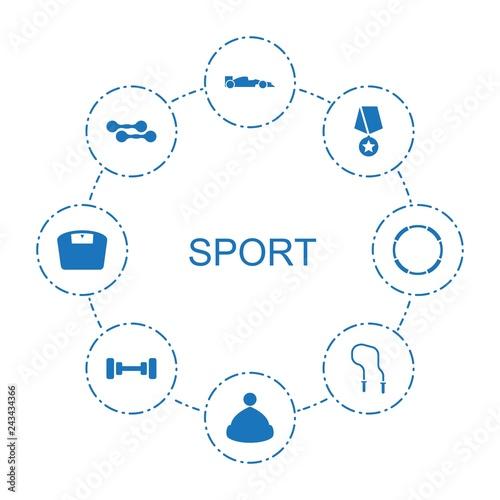 8 sport icons - 243434366