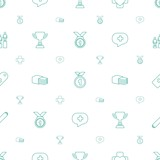 first icons pattern seamless white background - 243434574