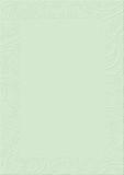 Pastel green textured background paper embossed floral border