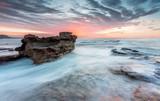 Floating rock ocean current morning sunrise - 243437179