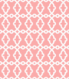 Seamless vector pink and white ornament in arabian style. Geometric abstract background. Pattern for wallpapers and backgrounds - 243447508