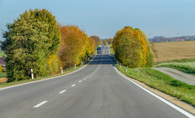 street at autumn time