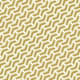 Geometric vector pattern with golden arrows. Geometric modern ornament. Seamless abstract background - 243448167