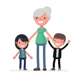 Cute characters vector illustration - 243450189
