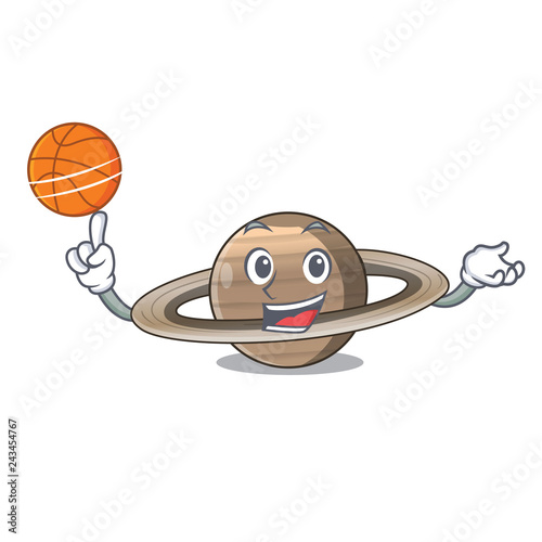 With basketball Pluto saturn isolated in with mascot