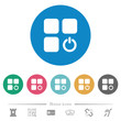 Component switch flat round icons