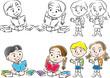 school boy and girl set - 243462798