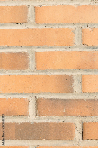 red brick wall texture - 243464535