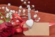 Carte vierge pour écrire une déclaration d'amour à la saint valentin