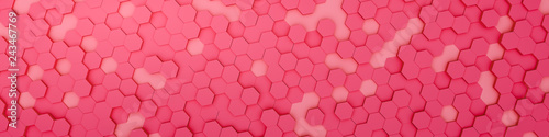 red hexagon background - 243467769
