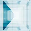 Blue transparent 3d rendering