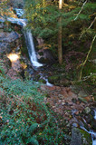 Beautiful waterfall scenery in Geres natural reserve. Portugal