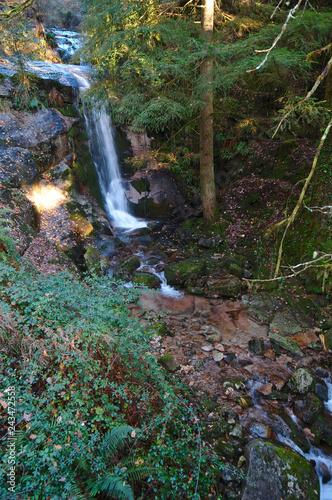 Beautiful waterfall scenery in Geres natural reserve. Portugal