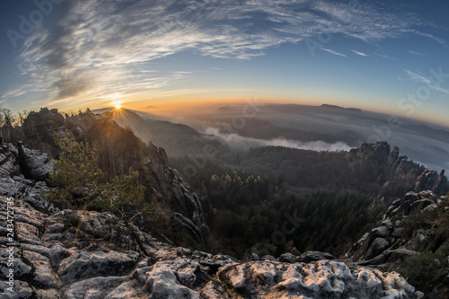 sunset in the mountains - 243472735