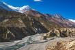 Marsjandi-Khola river valley. Annapurna circuit trek