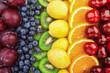 Fresh fruits.Assorted fruits colorful background. Color range - 243477542