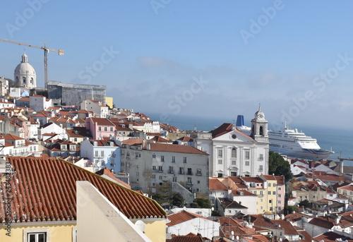 Sticker Panorama of Lisbon, Portugal