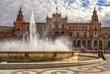 Leinwanddruck Bild - Plaza de España, Sevilla, Spain