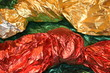 a colored background, foil