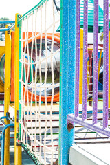 Children's players have beautiful colors on the playground. © adisorn123