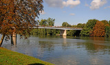 Les Mureaux; France - september 16 2017 : Seine riverside