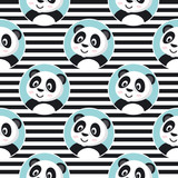 Little Panda Seamless Pattern