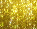 The diamond shine on a golden background  - 243505561