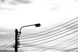 street light lamp - monochrome