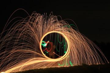 steel wool in motion