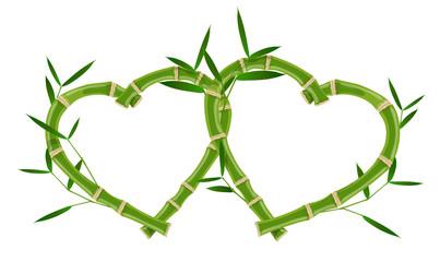 Double heart bamboo frame © ayax