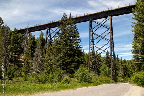 mata magnetyczna Railroad Bridge Montana USA