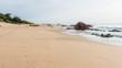 Beach Ocean Fishermen Rocky Coastline Landscape