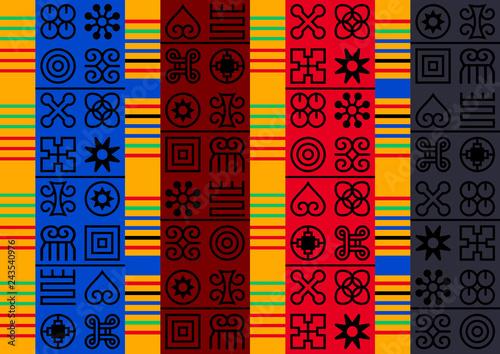 Seamless African Adinkra pattern.