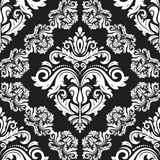 Classic seamless black and white pattern. Damask orient ornament. Classic vintage background - 243542917