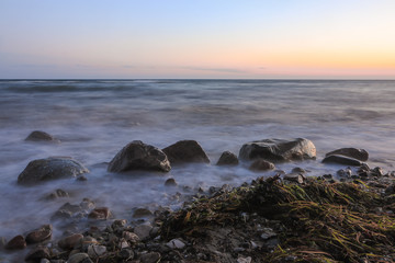 dawn seascape with long exposure