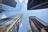 Looking up view of skyscrapers in downtown New York - 243546780