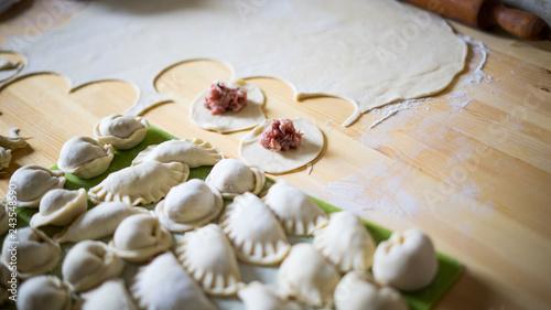 Sticker Homemade dumplings and khinkali