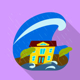 Vector illustration of collapse and environment  icon. Set of collapse and distress vector icon for stock. - 243554788