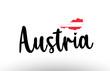 Austria country big text with flag inside map concept logo