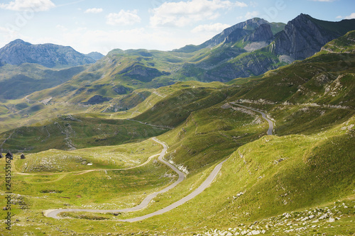 Journey in mountains of the National Nature Park Durmitor in Montenegro.