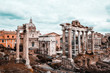 Quadro Roman Forum with cloudy sky. Italy antique